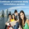 Legal service for granting certificate of oversea study consultation services