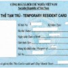 Temporary resident card for foreigners with Vietnamese spouses